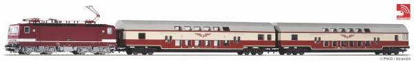 """PIKO 58143 - Zugset mit Nahverkehrszug """"Sputnik"""" mit Baureihe 243 der DR"""
