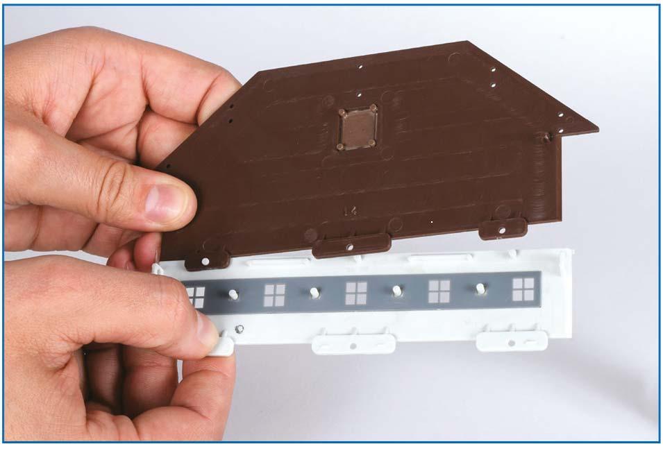 kibri Stecksystem 2 - Bausatz Gebäude Modellbahn