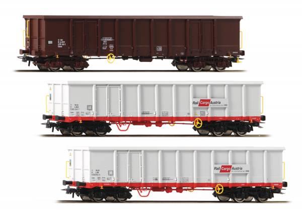 Roco 67153 - Set offene Güterwagen, Bauart Eanos der ÖBB