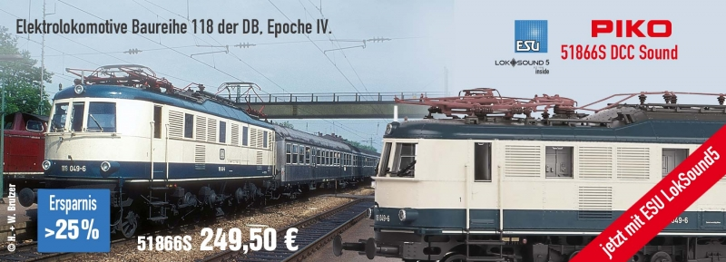 PIKO Baureihe 118 ESU Sound