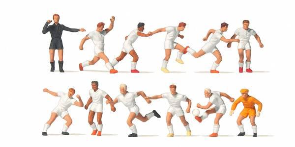 Preiser 10762 - Fussballmannschaft, weiße Trikots und Hosen