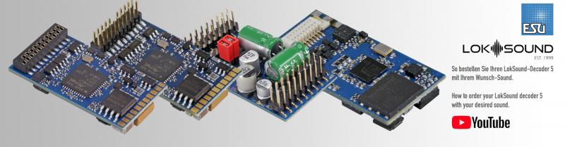 ESU LokSound 5 Decoder fertig konfektioniert mit Sound
