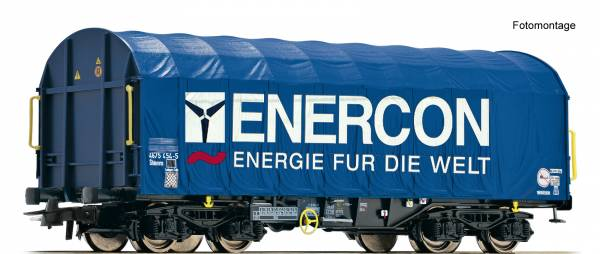 "Roco 76448 - Schiebeplanenwagen Bauart Shimms ""Enercon"""
