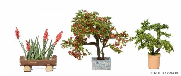 NOCH 14020. Zierpflanzen in Blumenkübeln.