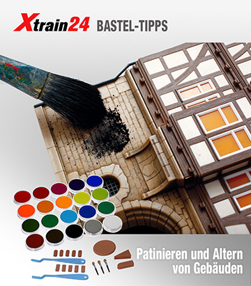 Modelleisenbahn - Patinieren und Altern von Gebäuden