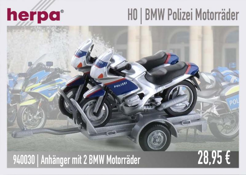 herpa 940030 BMW Polizei Motorrad