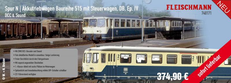 Fleischmann Spur N Akkutriebwagen 51515 / 740171