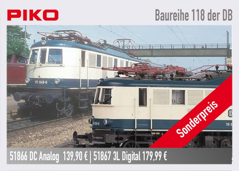 PIKO 51866 Baureihe 118 Ep. IV