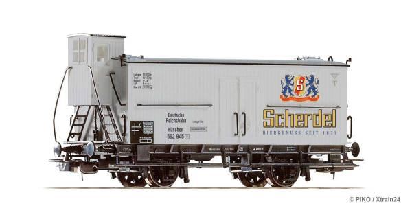 """PIKO 54718 - Bierwagen der """"Scherdel"""" Brauerei der Deutschen Reichsbahn"""