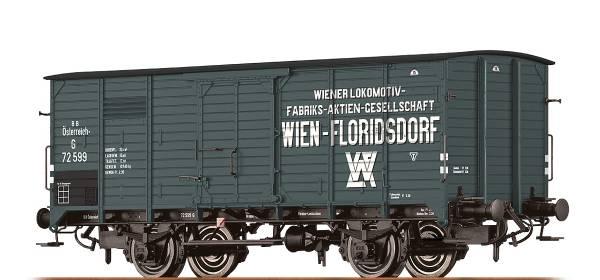 """BRAWA 49746 - Gedeckter Güterwagen Bauart G10 """"Wiener Lokomotivfabrik"""" der BBÖ"""