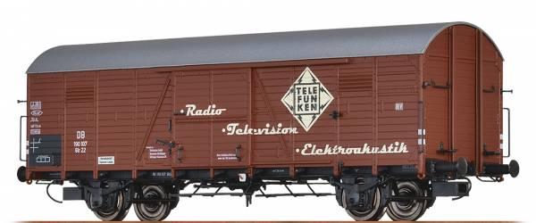 """BRAWA 48720 - Gedeckter Güterwagen Bauart Glr 22 """"Telefunken"""" der DB"""