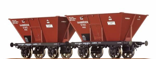 BRAWA 48802 - 2er-Set Kohletrichterwagen Bauart Otr(u) der K.P.E.V.