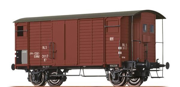 BRAWA 47855 - Gedeckter Güterwagen Bauart K2 der BLS