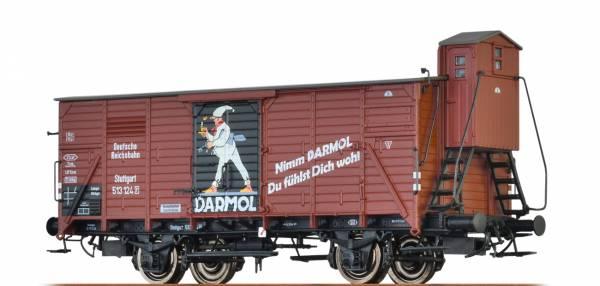 """BRAWA 49049 - Gedeckter Güterwagen Bauart G10 """"DARMOL"""" der DRG"""