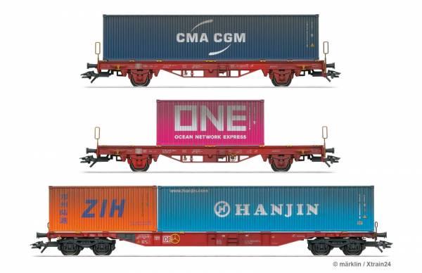 ᐅ märklin 47580 - 3-tlg. Containerwagen-Set der DB AG