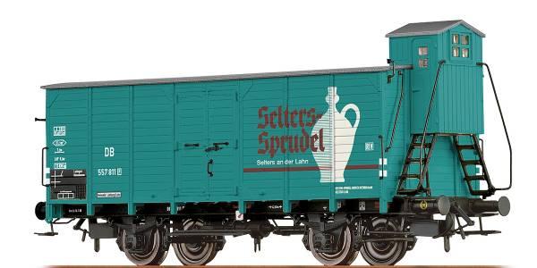 """BRAWA 67479 - Gedeckter Güterwagen Bauart G10 """"Selters"""" der DB"""