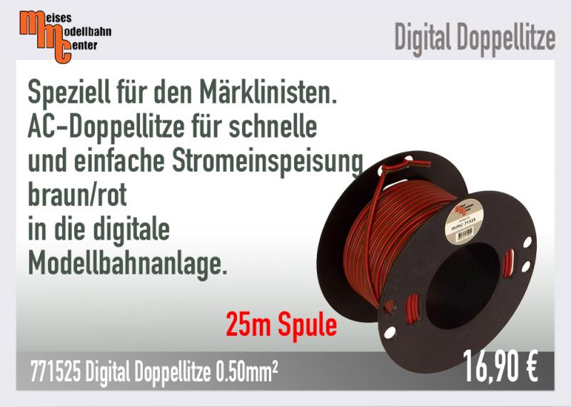 25m Litze für Märklin Digital