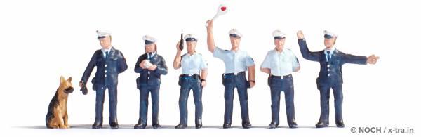 Polizisten, blaue Uniform. NOCH 15091